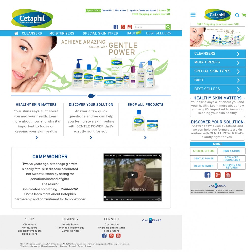 Cetaphil Home Page Designs