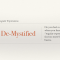 Regular Expressions De-Mystified